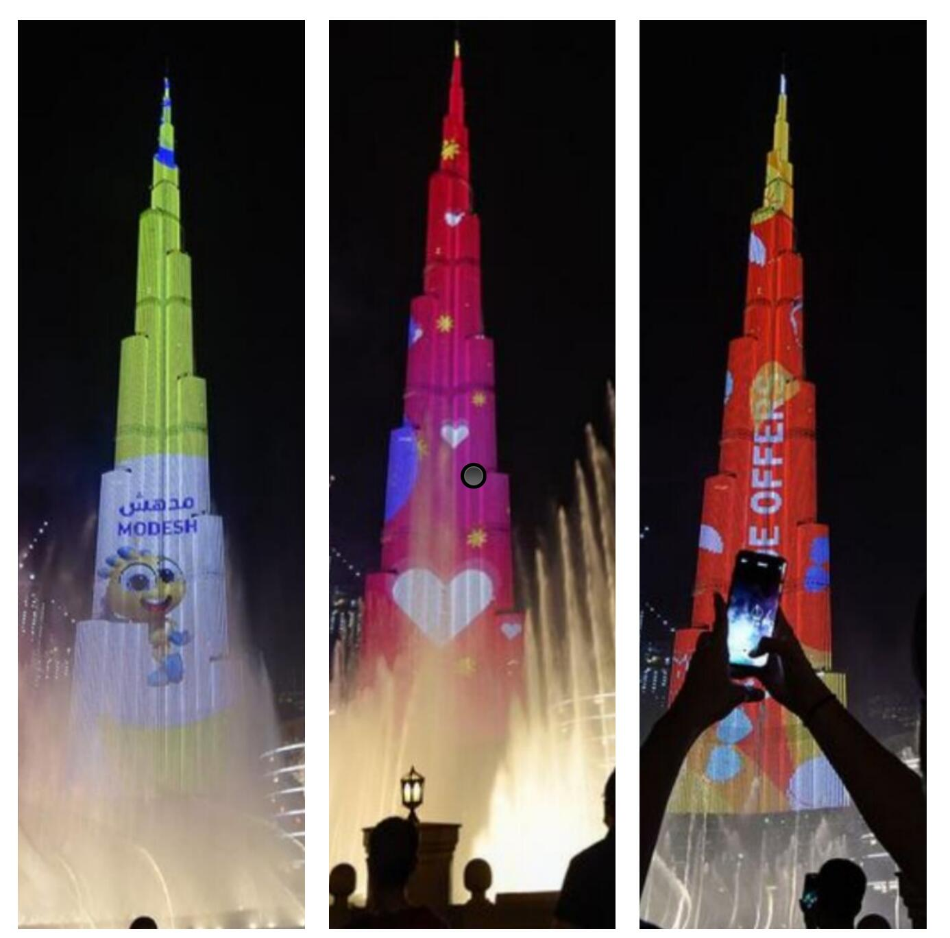 Burj Khalifa lights up for Dubai Summer Surprises