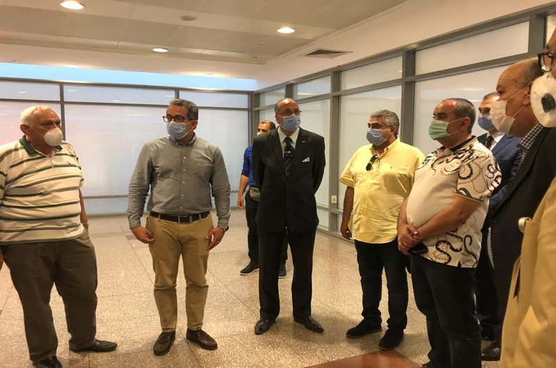The ministers of tourism, antiquities and civil aviation visit the Cairo International Airport Museum