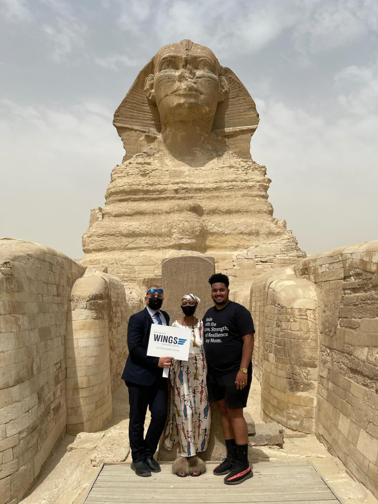 Wings Tours is the handling agent for the visit of Mr. Vitale family to Egypt